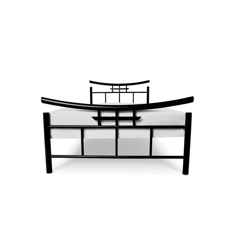 SEKO Łóżko metalowe styl japoński 90x200 cm