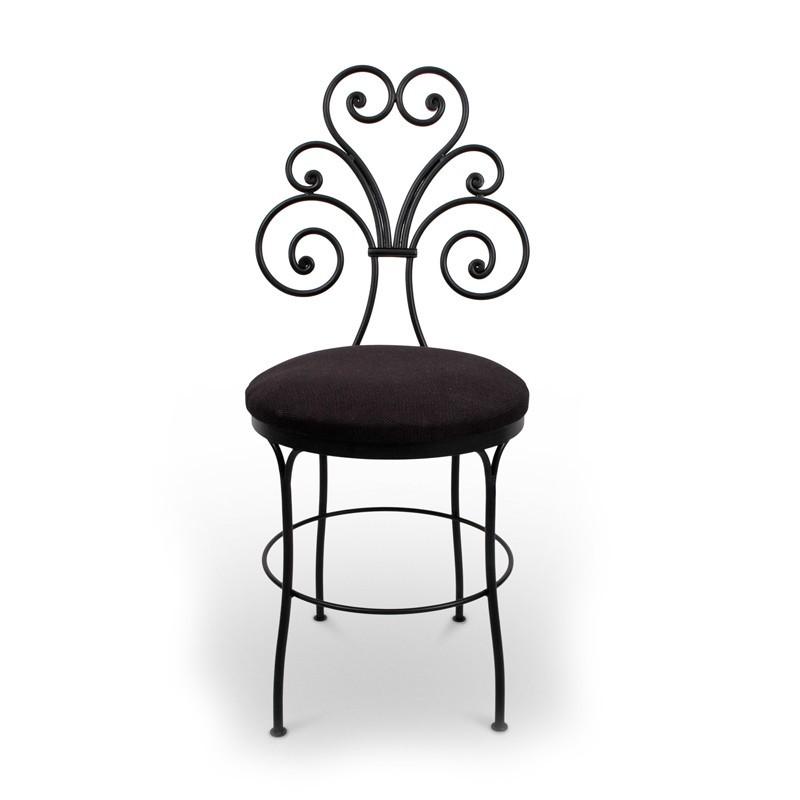 KAMI Krzesło metalowe ozdobne czarne