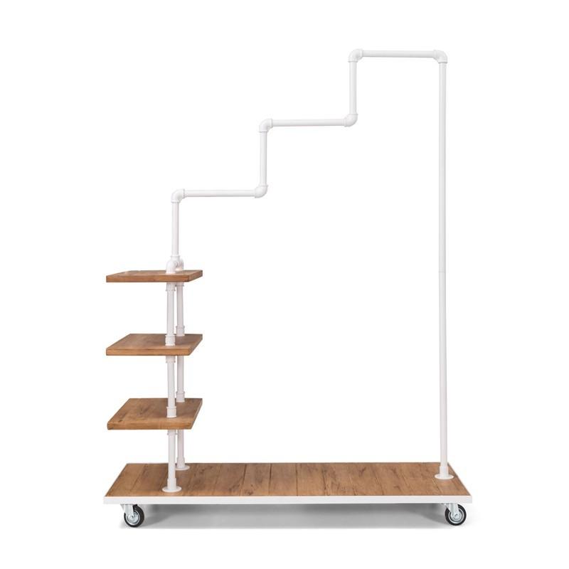 KOLAN Wieszak rury hydrauliczne drewno styl skandynawski