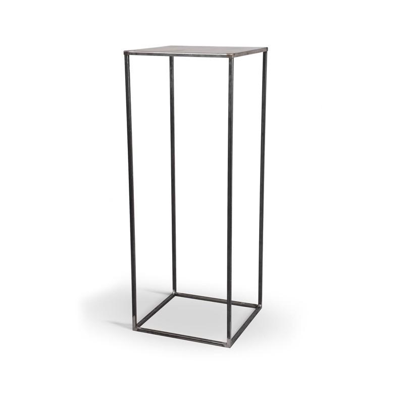SIMPLEX Stolik 100cm wysokości metal surowa stal minimalizm