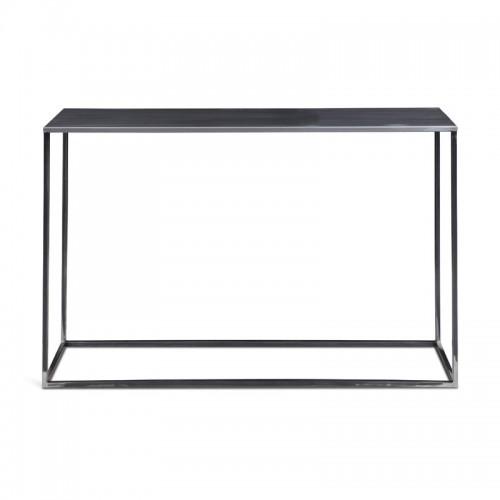 SIMPLEX Stolik konsola z metalu kolor czarny