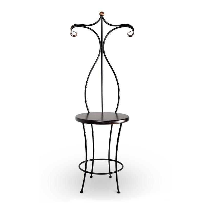 HEBRO Krzesło metalowe z wieszakiem