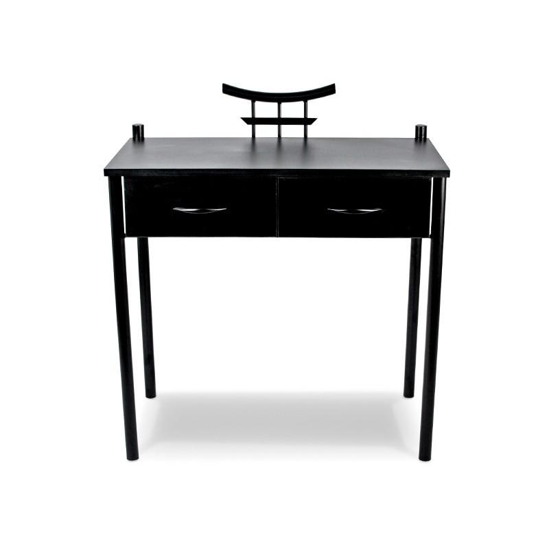 SEKO Toaletka czarna orientalna z metalu i drewna