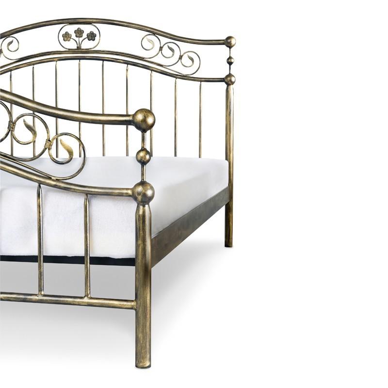 Romantyka Metalowe łóżko Kute Stylowe 160x200 Francke Art