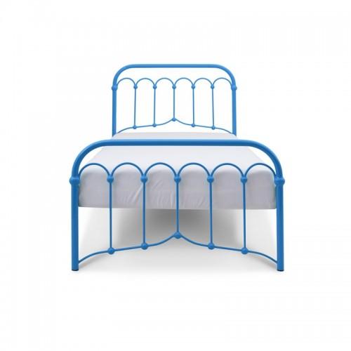 AVIA Łóżko metalowe retro niebieskie 90x200 cm