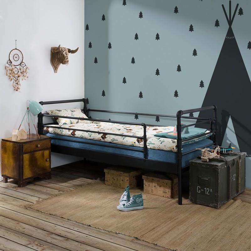 Nexus łóżko Dziecięce Metalowe Z Barierką 90 Cm Francke Art
