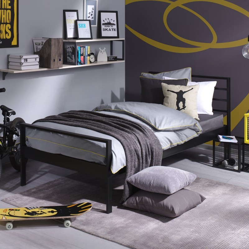 Profi łóżko Z Metalu Minimalistyczne 120x200 Cm Francke Art
