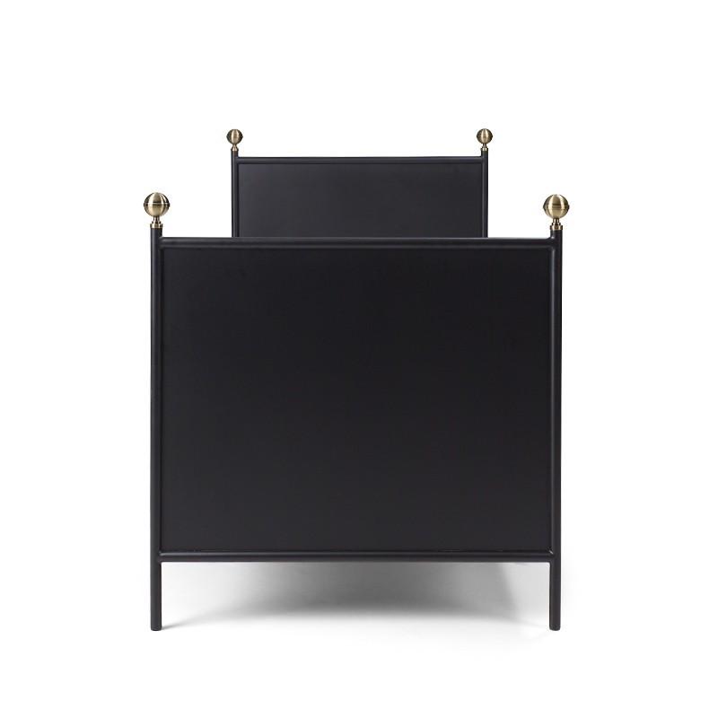 LAMIN Łóżko metalowe czarne 90x200 cm