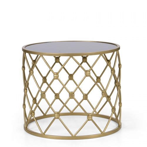 ARCUM Stolik kawowy złoty okrągły elegancki luksusowy metalowy