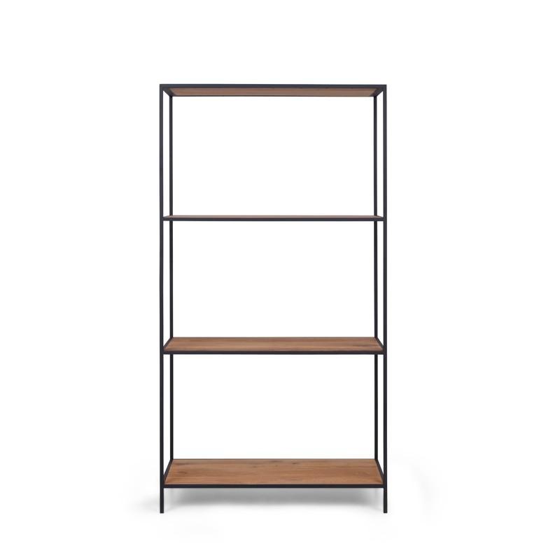 FINIS Regał metalowy z drewnianymi półkami