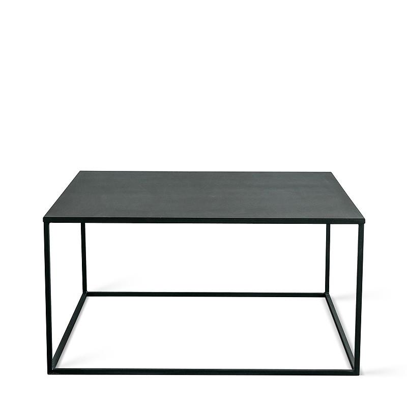 SIMPLEX Stolik kawowy 80x80 cm czarny metal loft